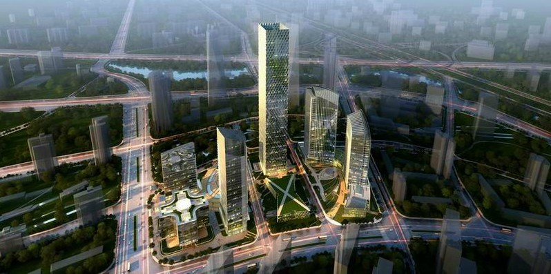 wangjing greenland scaled tower