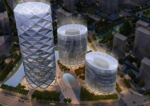 wangjing poly real estate diamond lantern tower