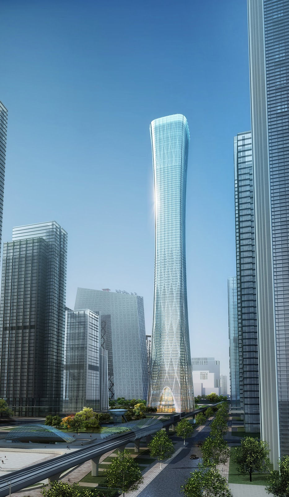 The Beijing Zhonguo Zun Z15 Tower Project In Citic Plaza on French School Project