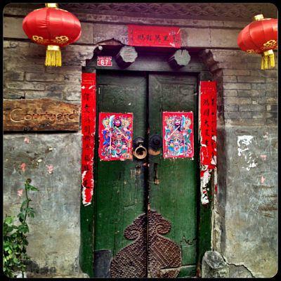Hutong door chinese new year
