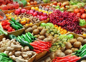Vegetables in Chinese market