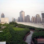 Roof garden of Beijing Jinglun Hotel in CBD