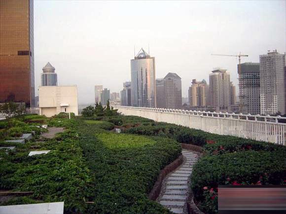 Roof garden of Beijing Jinglun Hotel in CBD
