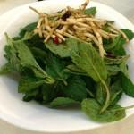 MInt leaves salad