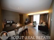 Living room in apartment CWTC Century Towers
