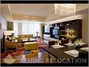 Living room in Sandalwood Beijing Mariott Executive