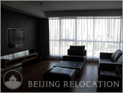 Living room in Ascott Raffles City Beijing
